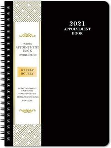 2021 Weekly daily hourly Planner With Tabs Appointment Book Organizer Agenda
