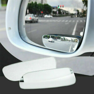 2x 360 Stick On Rear View Blind Spot Mirror Wide Angle For Universal Car Truck