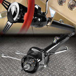 For 55 59 Chevy Gm Hot Rod 32 Tilt Auto Automatic Steering Column Shifter Black