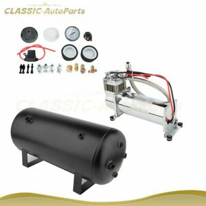 200 Psi Air Compressor Tank Onboard System Kit For Train Truck Boat Horn