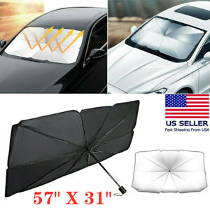 2021 Car Umbrella Shape Window Sun Shade Shield Cover Windshield Uv Visor Block