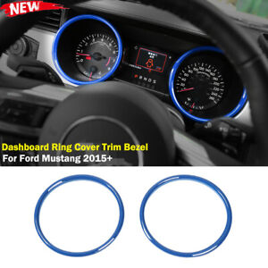 Interior Dashboard Ring Cover Trim Bezel For Ford Mustang 2015 Accessories Blue