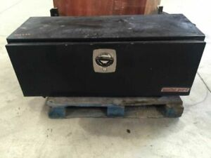 08 Freightliner M2 106 46k Utility Black Weather Guard Tool Box 19534