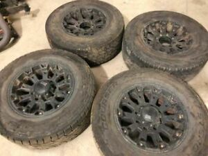08 Ford F250 Super Duty Used Aftermarket 18x9 Xd Set Of 4 Wheel Rims No Tires
