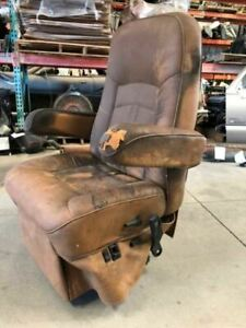 2013 Holiday Rambler Rv Motorhome Used Smoked Residue Right Bucket Leather Seat