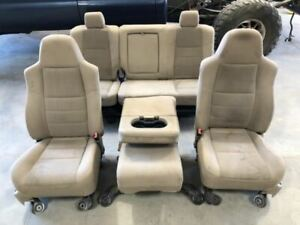 Used 2006 Ford F250 Crew Cab Tan Cloth Power Seats Front Rear 3h Shipped 28124