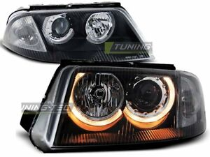 Headlights For Vw Passat 3bg B5 Fl 00 05 Angel Eyes Black Worldwide Freeship Us