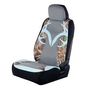 Realtree Camo Universal Seat Cover Ice Blue Antler Camouflage Auto Car Truck