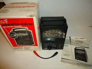 Vintage Sears Automotive Analyzer Model 21421 W Box Manual And Accessories Nice