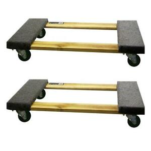 30 In X 18 3 In 1 000 Lb Capacity Furniture Dolly 2 pack