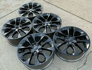 5 20 2021 Jeep Wrangler Black Oem Factory Stock Wheels Rims Tpms Included