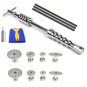Auto Body Dent Repair Tool Kit Paintless Sliding Hammer Extraction Tabs