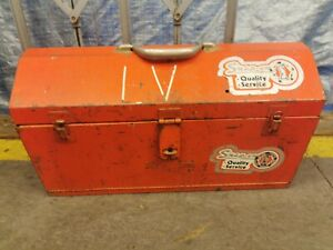 Vintage Snap On Drawer Box tool Red Chest Tool Box 21 L X 9 W X 11 5 H