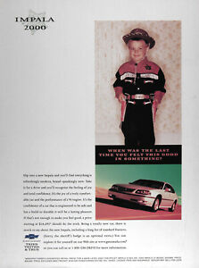 2000 Chevrolet Impala Lot Of 2 Genuine Ads Rare Cdn Ads Free Shipping