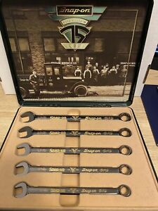 Snap on 75th Anniversary Commemorative 5 Piece Wrench Set 4518 12200