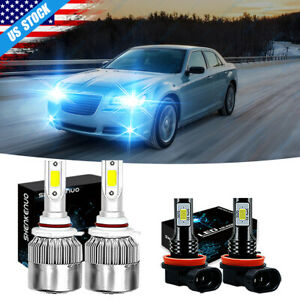 For Chrysler 300 2011 2012 2013 2014 8000k Led Headlight Fog Light Bulbs Combo