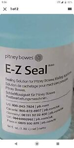 2 Pack Pitney Bowes E z Seal 608 0 Sealing Solution For Mailing Machines 64oz