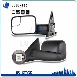 Pair For 2002 2008 Dodge Ram 1500 3500 Power Heated Side View Towing Mirrors