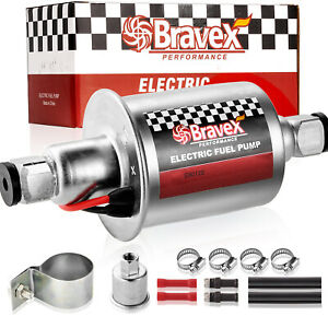 Bravex High Performance 12v Universal Gas Pump Electric Fuel Pump E8012s