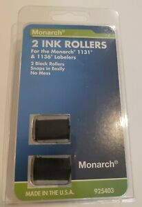 Monarch 2 pack Black Ink Rollers Use W 1131 1136
