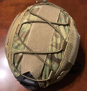 Black Tactical Fast Helmet Bump Type NVG Mnt Side Rail And Multicam Mesh Cover $48.00
