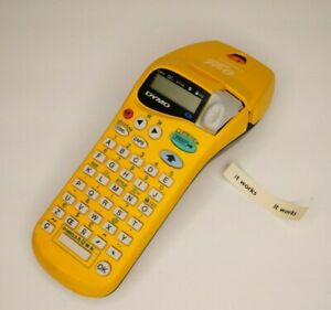 Dymo Letratag Personal Label Maker Handheld Yellow Tested Some Label Remaining