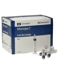 Covidien Monoject Oral Syringe Polypropylene 6 Ml Capacity Clear pack Of 100