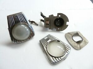 Vintage Automotive Interior Courtesy Dome Light Assembly Pair Used Rat Hot Rod