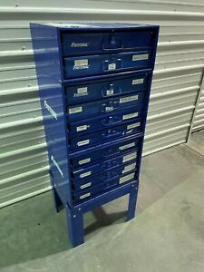 Fastenal Stacking Blue Steel Storage Parts Cabinet W Removable Drawers 2
