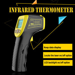 Non contact Laser Infrared Thermometer Digital Lcd Ir Temperature Pyrometer Gun