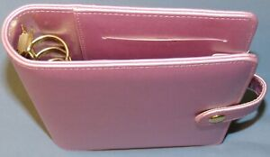 Pink 6 ring 1 Compact Faux Leather Planner Personal Small Binder Franklin