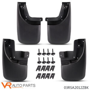 Fit Toyota Tacoma Mud Flaps Splash Guards 05 15 Front Rear Molded Mudguards