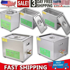 2 15l Ultrasonic Cleaner Stainless Steel Industry Heated Heater W timer Us Stock