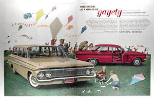 1961 Chevrolet Nomad Wagon Corvair Monza Genuine Vintage Ad Free Shipping