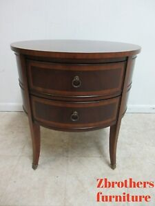 Ethan Allen Newport Round Drum Banded End Table Osborne