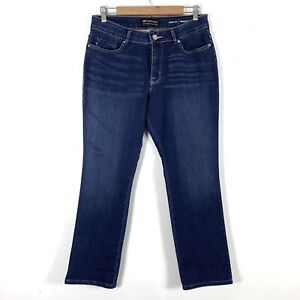 Lee 12 Short Curvy Fit Straight Leg Jeans Dark Wash Denim Womens Pants $27.98
