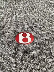 Aftermarket Rear Lid Badge Red For Bentley Continental Flying Spur gt gtc
