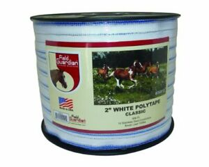 Field Guardian 2 White Polytape Classic For Electric Fence
