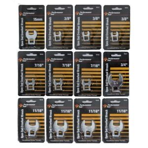 12 Piece Crowfoot Wrench Set Sae Metric Open End 3 8 Drive Performance Tool