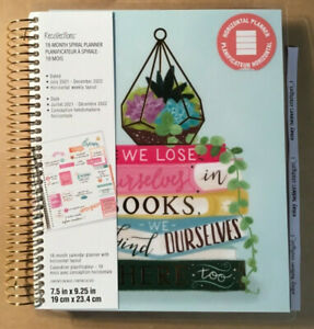 New Recollections 2021 2022 We Lose Ourselves In Books 18 Month Spiral Planner