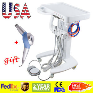 Moveable Dental Delivery Unit Mobile Cart Compressor Treatment System Polisher