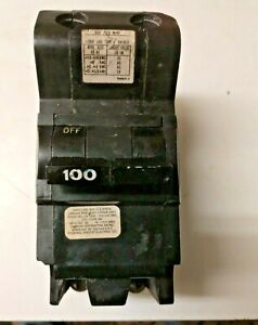 Fpe Federal Pacific Nb2100 100 Amp 2 Pole Main Breaker Bolt on Type Nb 100a