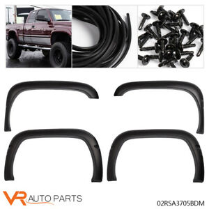 Front Rear Wheel Fender Flares Fit 94 01 Dodge Ram 1500 2500 3500 Factory Style