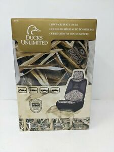 Ducks Unlimited Low back Camo Bucket Seat Cover mossy Oak Blades Camo Durable