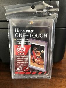 Ultra Pro One touch 55pt Point Magnetic Card Holder Lot Of 5