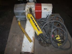 Coffing 5 Ton Chain Hoist Triple Chain 25 Lift With Trolley And Pendant