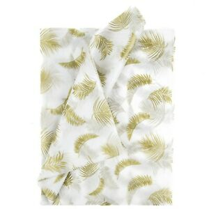 Tissue Paper Tropical Gold Leaves 100 Sheets