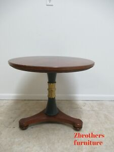 Henredon Natchez Collection Round Pedestal Lamp End Table Neo Classical