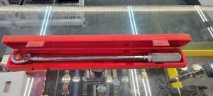 Snap on Qjr3200c 1 2 Drive Click Type Torque Wrench 30 200 Ft Lbs W case Great
