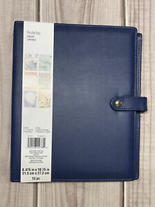 Recollections Dateless Planner 6 Ring Binder 12 Monthly Tab Dividers Navy Blue